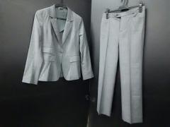 ジョセフ JOSEPH レディースパンツスーツ サイズ36 M レディース グレー×白 肩パッド/チェック柄【中古】