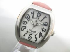 ランカスター LANCASTER 腕時計 0242 レディース 革ベルト/シェル文字盤 白【中古】
