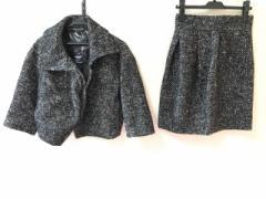 ブラックレーベルポールスミス BLACK LABEL Paul Smith スカートスーツ サイズ40 M レディース 黒×白【中古】
