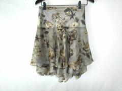ラルフローレン RalphLauren スカート サイズ0 XS レディース グレー×マルチ 花柄【中古】