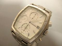 ワイアード WIRED 腕時計 7T92-0EA0 メンズ bpr BEAMSコラボ/クロノグラフ/革ベルト 白【中古】