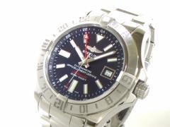 ブライトリング BREITLING 腕時計 美品 アベンジャー2GMT A32390 メンズ ネイビー【中古】