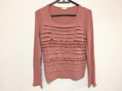 トゥービーシック TO BE CHIC 長袖セーター サイズ3 L レディース 美品 ピンク フリル【中古】