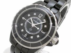 シャネル CHANEL 腕時計 J12 H2569 レディース セラミック/29mm/8Pダイヤ 黒【中古】