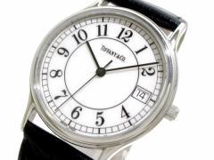 ティファニー TIFFANY&Co. 腕時計 クラシック - レディース 革ベルト 白【中古】