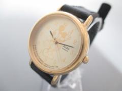 アルバ ALBA 腕時計 V515-6420 レディース ディズニー/ミッキー ゴールド【中古】