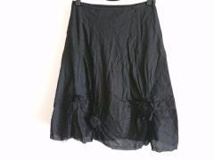 トリココムデギャルソン tricot COMMEdesGARCONS スカート レディース 美品 黒 フラワー【中古】