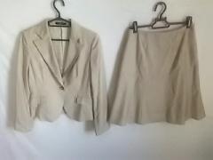 ロペ ROPE スカートスーツ サイズ7 S レディース ベージュ 肩パッド【中古】