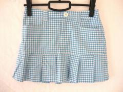 サマンサタバサ Samantha Thavasa ミニスカート サイズS レディース 美品 ブルー×白 チェック柄【中古】