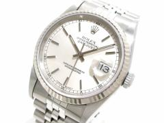 ロレックス ROLEX 腕時計 デイトジャスト 16234 メンズ K18WG×SS/17コマ+余り5コマ(フルコマ) シルバー【中古】