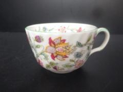 ミントン MINTON 食器 新品同様 白×グリーン×マルチ 花柄/ティーカップ 陶器【中古】