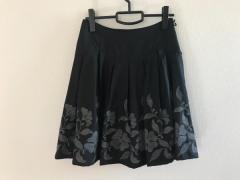 チェスティ Chesty スカート レディース 美品 黒×グレー 刺繍【中古】