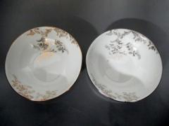 ウェッジウッド WEDG WOOD 食器 新品同様 VERA WANG 白×ゴールド×シルバー 花柄/小皿×2 陶器【中古】