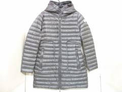 モンクレール MONCLER ダウンコート サイズ2 M レディース 美品 BARBEL ブラウングレー ライトダウン/冬物【中古】