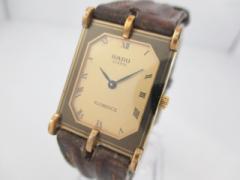 ラドー RADO 腕時計 FLORENCE 153.3357.2 メンズ 革ベルト ゴールド【中古】