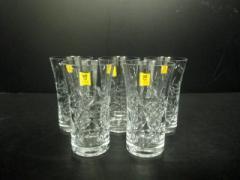 カガミクリスタル KAGAMI CRYSTAL 食器 新品同様 クリア グラス*5 ガラス【中古】