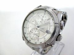 ワイアード WIRED 腕時計 美品 7T92-0GB0 メンズ クロノグラフ 白【中古】