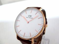 ダニエルウェリントン Daniel Wellington 腕時計 美品 - B36R1 メンズ アイボリー【中古】