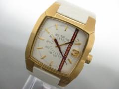 ディーゼル DIESEL 腕時計 美品 DZ-1298 レディース 革ベルト アイボリー【中古】
