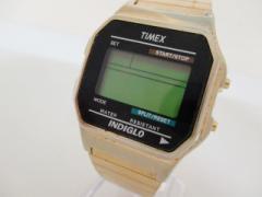 タイメックス TIMEX 腕時計 INDIGLO CR2016CELL メンズ 黒【中古】