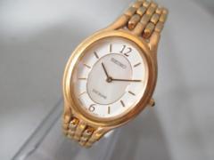 セイコー SEIKO 腕時計 美品 EXCELINE 1F20-6G90 レディース シェル文字盤 アイボリー【中古】