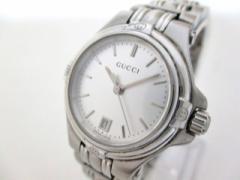 グッチ GUCCI 腕時計 美品 9040L レディース シルバー【中古】