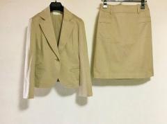 ナチュラルビューティー NATURAL BEAUTY スカートスーツ サイズS レディース ベージュ【中古】