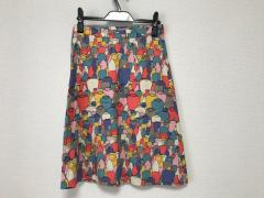 アンダーカバー UNDER COVER スカート レディース 美品 アイボリー×マルチ【中古】