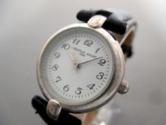 オジャール CHRISTIAN AUJARD 腕時計 - レディース 革ベルト 白【中古】