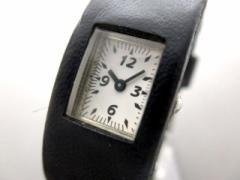 ズッカ ZUCCA 腕時計 V220-643A レディース 革ベルト 白【中古】