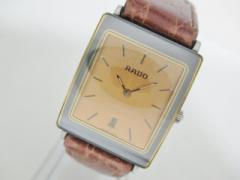 ラドー RADO 腕時計 ダイアスター 160.0318.3N レディース 社外ベルト ベージュ【中古】