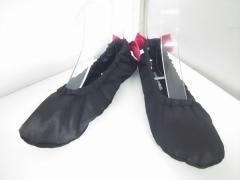 ソニアリキエル SONIARYKIEL 靴 レディース 黒×ピンク リボン/ルームシューズ サテン【中古】