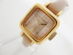 ズッカ ZUCCA 腕時計 キャラメル Y150-0BN0 レディース CABANE de ZUCCA/革ベルト ピンク【中古】