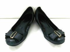 ダイアナ DIANA 靴 レディース 黒 リボン レザー【中古】