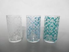 コーチ COACH 食器 新品同様 クリア×マルチ グラス×3 ガラス【中古】