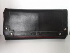 クロエ Chloe 長財布 エデン 3P0721-311 ネイビー 合皮【中古】