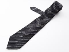 ポールスミス PaulSmith ネクタイ メンズ 黒×白 斜めストライプ【中古】