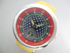 アピタイム appetime 腕時計 VD78-0010 レディース ラバーベルト ネイビー×ライトグリーン×マルチ【中古】