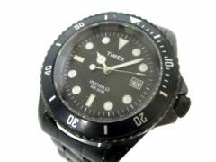 タイメックス TIMEX 腕時計 INDIGLO CR2016CELL メンズ 黒×白【中古】