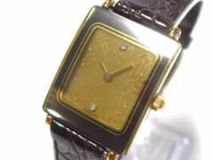 ラドー RADO 腕時計 ダイアスター 153.0283.3 レディース 型押し革ベルト ゴールド【中古】