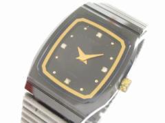 ラドー RADO 腕時計 美品 ダイアスター 133.9540.3 レディース 4Pダイヤ 黒【中古】