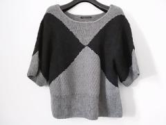 ヴィヴィアンタム VIVIENNE TAM 七分袖セーター サイズ0 XS レディース 美品 グレー×黒【中古】
