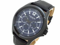 コーチ COACH 腕時計 美品 CA.94.2.95.1195 メンズ 革ベルト ネイビー【中古】