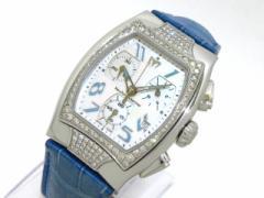 テクノマリーン 腕時計 TS15582 メンズ ダイヤモンドベゼル/シェル文字盤/アリゲーターベルト/クロノグラフ シェルホワイト【中古】