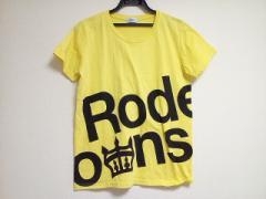 ロデオクラウンズ RCWB RODEOCROWNS WIDE BOWL 半袖Tシャツ レディース 美品 イエロー×黒【中古】
