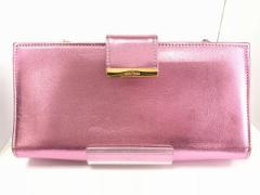 ミュウミュウ miumiu 財布 レディース - ピンク がま口/チェーンウォレット レザー【中古】