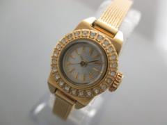 ビームス BEAMS 腕時計 - レディース ラインストーンベゼル シルバー【中古】