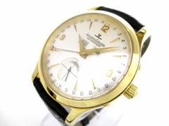 ジャガールクルト JAEGER-LECOULTRE 腕時計 マスターデイト 140.1.87 メンズ K18YG/革ベルト シルバー【中古】