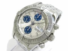 ブライトリング BREITLING 腕時計 クロノ スーパーオーシャン A13340 メンズ SS アイボリー【中古】