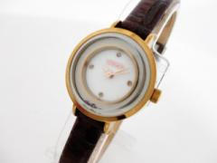 アビステ ABISTE 腕時計 新品同様 - レディース 革ベルト/シェル文字盤 ホワイトシェル【中古】